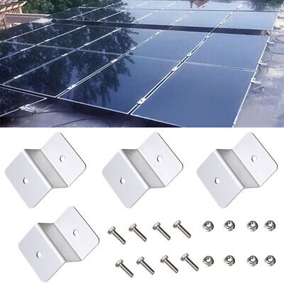 4 Kit Solar Panel Mounting Z Bracket Mount Supporting for RV  Roof Boat,  Roof Mounting Kit