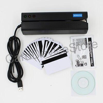 Usb Hico Magnetic Strip Credit Card Reader Writer Encoder Swipe 3-track Msr Mag