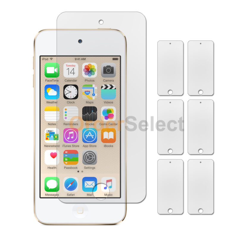 6X NEW Ultra Clear HD LCD Screen Shield Protector for Apple iPod Touch 6 6th Gen
