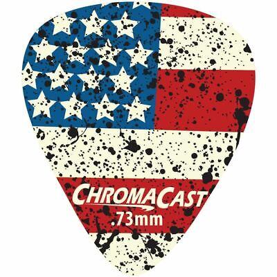 ChromaCast USA Flag Guitar Picks, Medium Gauge(.73mm), 30-Pack - Flag Picks