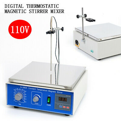 10l Thermostatic Magnetic Stirrer Digital Heating Lab Mixer Hot Plate Cj-882a Us