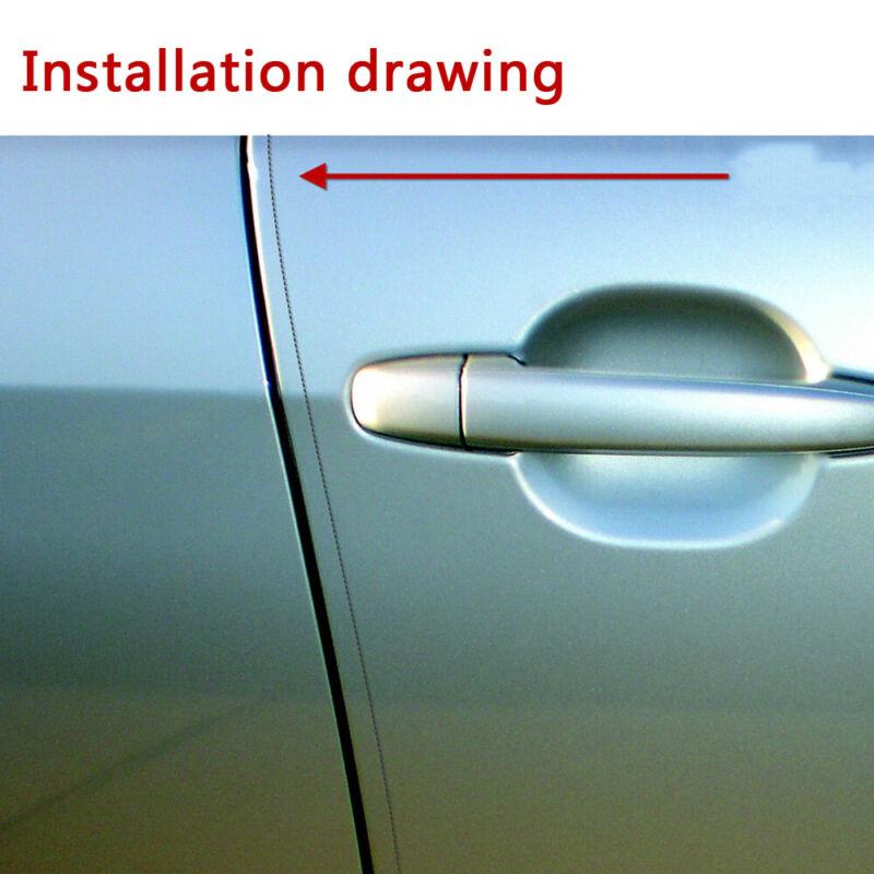 4 x CAR DOOR EDGE GUARD PROTECTOR CLEAR TRANSPARENT