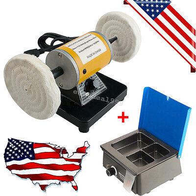 Dental Lab Mini Polishing Polisher Equipment Machine Lathe Desk Wax Heater Pot