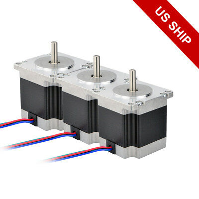 Free Ship 3pcs Nema 23 Stepper Motor 179oz.in Cnc 2.8a Hobby Diy 3d Printer
