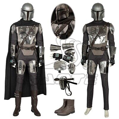 Custom Made Superhero Costumes (Superhero Mandalorian Cosplay Costume Helmet Shoes Men Crisis on Infinite)