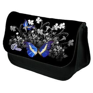 Personalised This Beautiful  Butterfly Make Up Cosmetics Bag. Free Gift Bag .