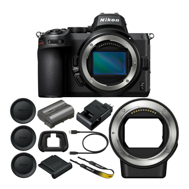 Nikon Z5 Mirrorless Digital Camera with Nikon FTZ Mount Adapter Bundle 2 Items