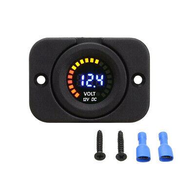 1x Waterproof 12v Led Car Van Boat Marine Voltmeter Voltage Meter Battery Gauge