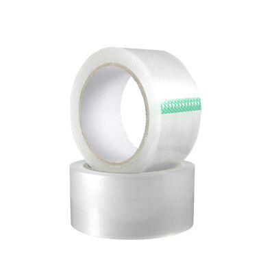 2 Rolls 2 Clear Heavy Duty Packing Tape 2.6 Mil 55 Yards Sealing Shipping Tape