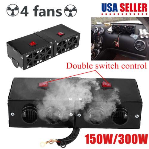 12V 150W//300W 4 Hole Car SUV Heater Warmer Heating Fan Window Defroster Demister