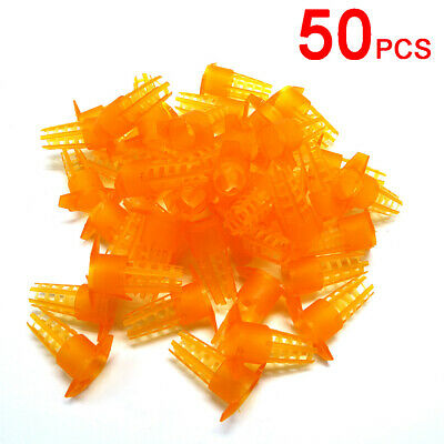 50pcs Bee King Protection Cover Rearing Tools New Bees Queen Cages Cell Plastic