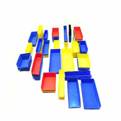 Lot 85 Quantum Qsb Akro-mils 30- Stackable Storage Bins Plastic Storage Parts