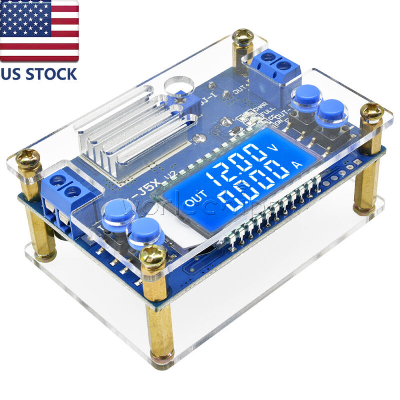 5A DC-DC Buck Step-down Constant Voltage Current LCD Power Supply Module +Case