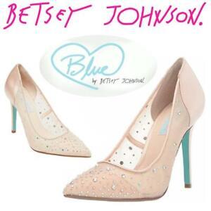 94f8dc032 NEW Betsey Johnson Blue Womens SB-Rubie Heeled Sandal Condtion: New,  Champagne Satin