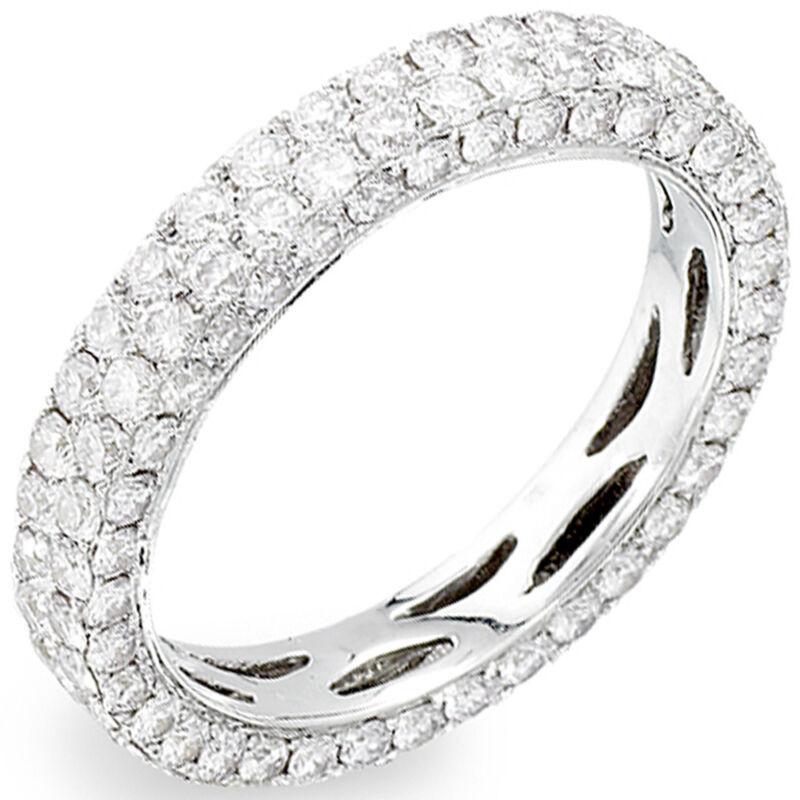 Round Cut Diamond 3.50 Carat 14k Gold Eternity Ring Dia Certified