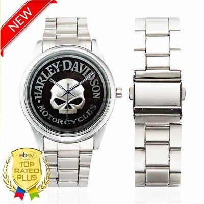 Harley-Davidson Skull Willie G Unisex Stainless Steel Watches