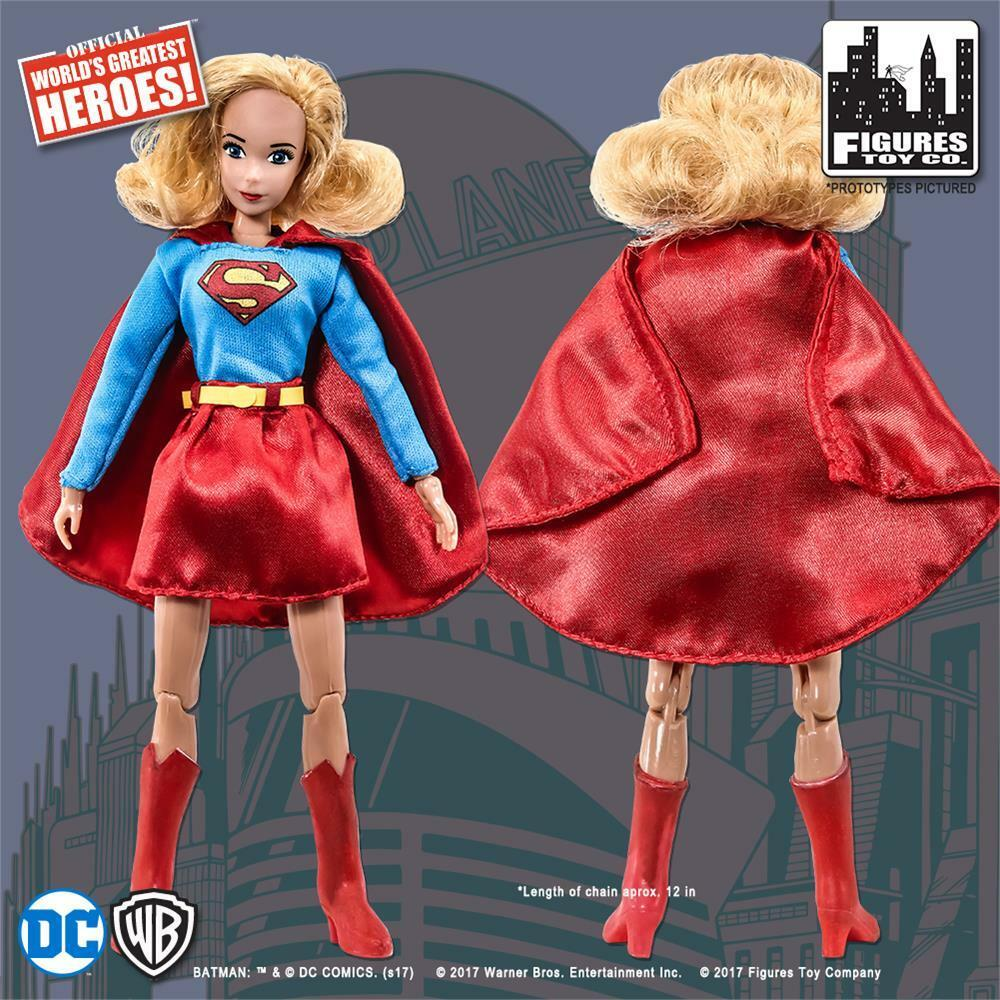 DC Comics Superman Retro 8 Inch Figures Supergirl Green /& Orange Variant