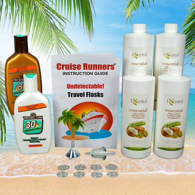 Fake Shampoo Conditioner Sunscreen Flasks Alcohol Rum Runner For Cruise Kit