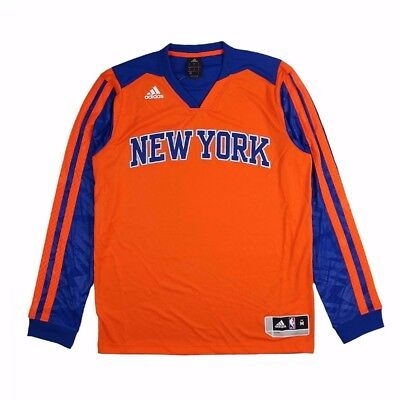 New York Knicks Adidas Authentic On Court Performance Shooter Shooting Shirt Men