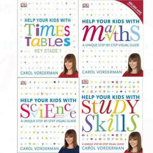 Carol Vorderman Help Your Kids with(Maths,Science and English) 4 Book Collection