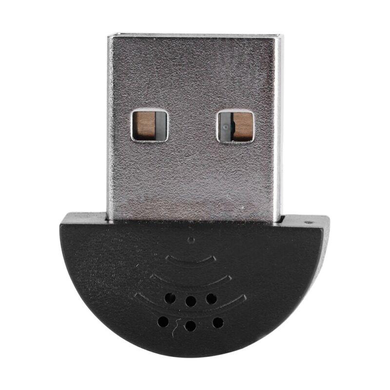 USB Plug Mini Studio Speech Microphone MIC Recording Audio Adapter For PC Laptop - $7.79