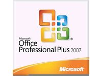 MICROSOFT OFFICE 2007 PRO for any Windows