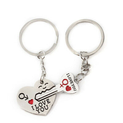 2pcs Schlüsselanhänger Schlüsselring abnehmbarer Schlüsselbund Keyring Herzform