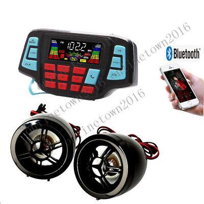 12V Motorcycle Waterproof Audio FM Radio Stereo Bluetooth Speaker For Ducati Beach Ball Twister