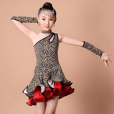 Girls Ballroom Dress (Toddler Kids Girls Latin Ballet Dress Party Dancewear Ballroom-Dance Costumes)
