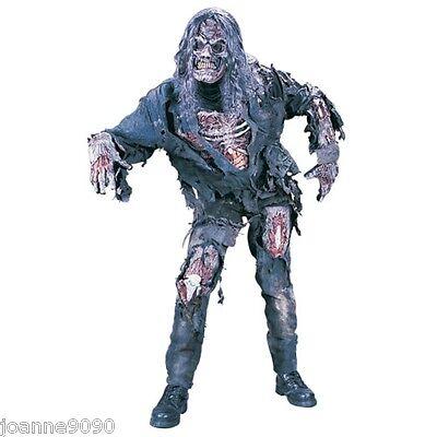 Disfraz De Zombie Hombre Para Halloween (de lujo para hombre Disfraz Completo zombi + Máscara & Guantes)