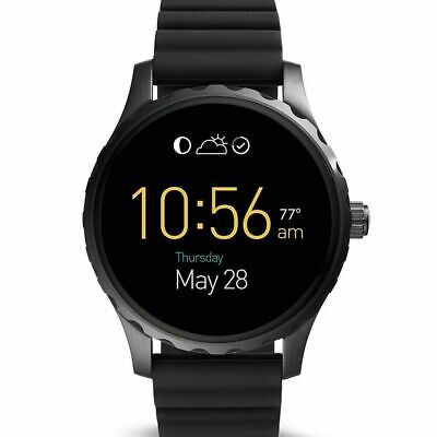 Fossil Q Gen 2 Marshal Black Silicone Strap Touchscreen Smart Watch FTW2107