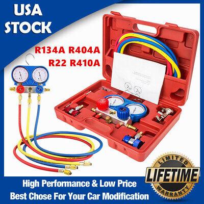 R134a R22 R410a Hvac Ac Refrigeration Manifold Gauge Set Charging System Kit