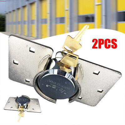 2 Packs 73mm Van Garage Shed Door Gate Safety Lock Shackle Padlock Set Steel Hot