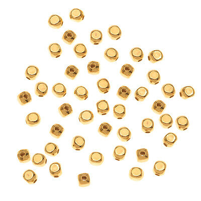 22K Gold Plated Square Rounded Beads 3mm (100)