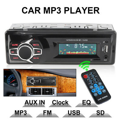 12V LCD Car Stereo Audio In-Dash FM Aux Input Receiver SD US
