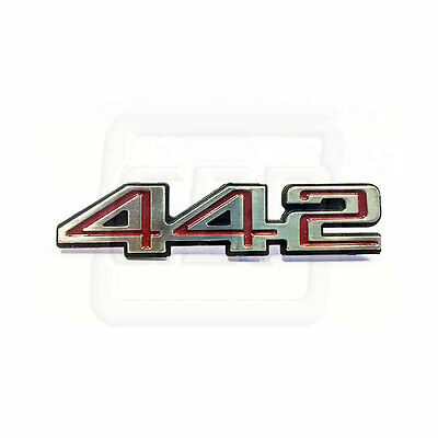 78-87 Cutlass 442 Interior Door Panel Name Plate Emblem with studs - EACH