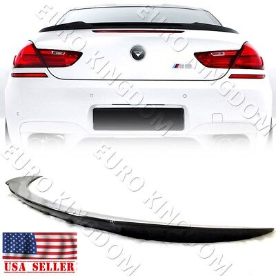 For BMW 6-Series F13 Coupes 640i 650i M6 Carbon Fiber Rear Trunk V Spoiler Wing