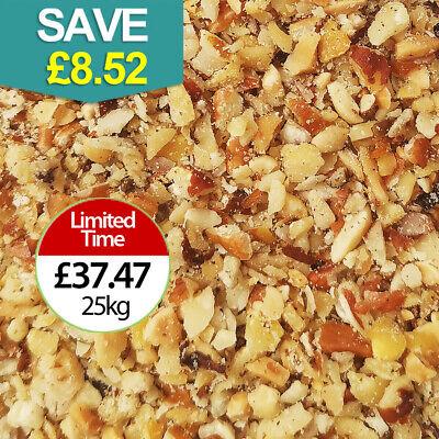 25kg Wild Bird Peanuts,  (CHOPPED) MIXED NUTS Granules/ Nibs. SALE PRICE
