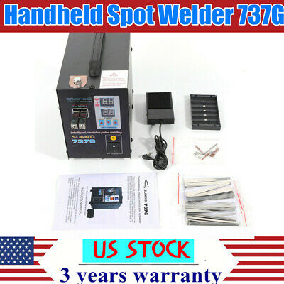Handheld Sunkko 737g Battery Spot Welder Welding Soldering Machine 2800w 110v Us