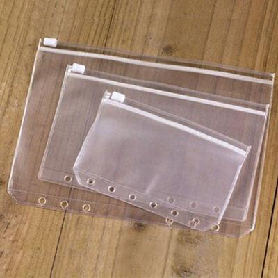 A5a6a7 Pvc Zip Lock Envelope Zipper Insert Refill Planners Organiser Office