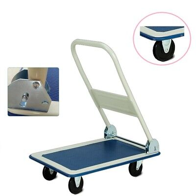 150Kg Heavy Duty Folding Trolley Cart Platform Flat Barrow Sack comfortable DCUK