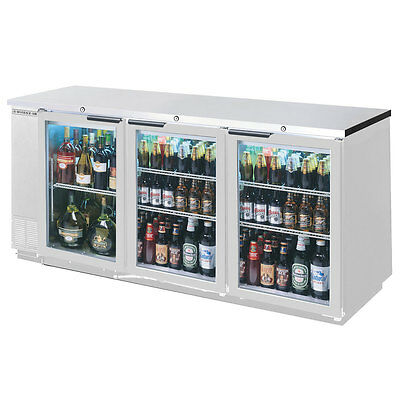 Beverage-air 72in Sliding Glass Door Back-bar Refrigerator W Ss Finish