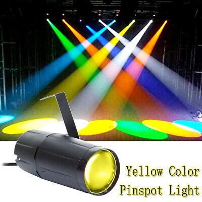 3w Single (U`King 3W Gelbes Bühnenlicht Pinspot LED with Single Stand Mini DJ Party Theater)