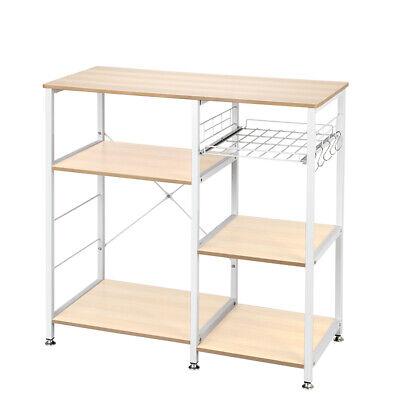 3-Tier Kitchen Shelf Baker's Rack Utility Microwave Oven Stand Storage Cart Bakers Utility Shelf