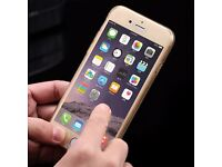 Silicone Protective 360° Clear - Gold Case Cover For Apple iPhone 7