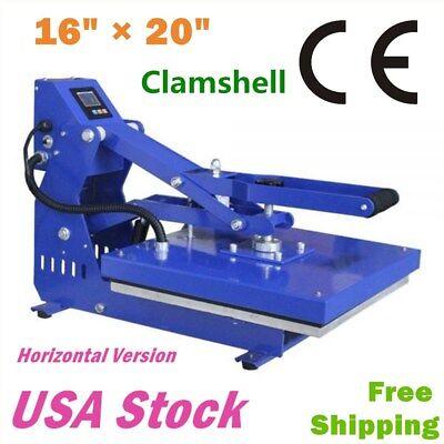 16 X 20 Clamshell T-shirt Heat Press Machine Horizontal Version - Us Stock