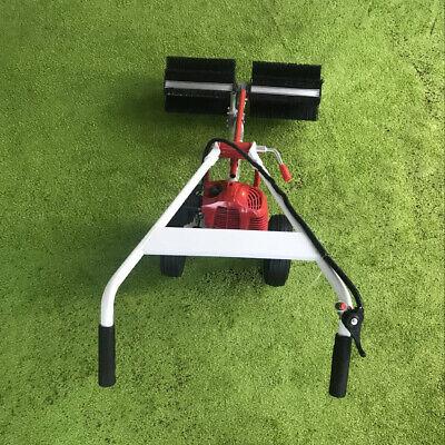 1.7hp Gas Power Handheld 2 Wheel Sweeper Floor Broom Sweepe Machine Cleaning Usa