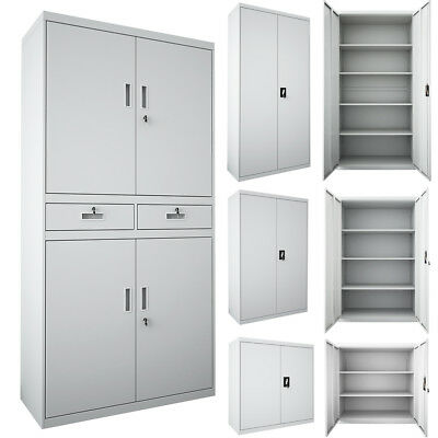 Lockable Office Filing Cabinet Warehouse Storage Steel File Cupboard Furniture