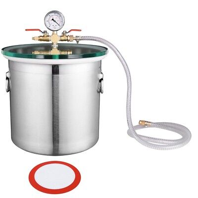 5 Gallon Stainless Steel Vacuum Chamber Degassing Urethanes Silicone Epoxies, used for sale  Atlanta