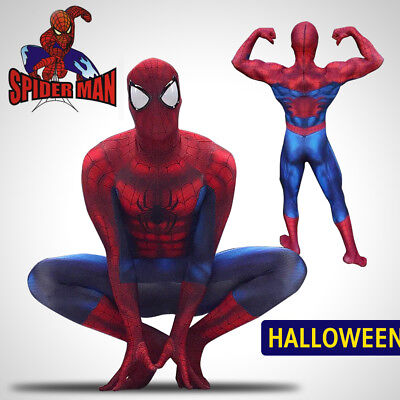 Marvel Spiderman Costume (3D Printing Marvel Amazing Spiderman Costume Adult Halloween Cosplay Zentai)